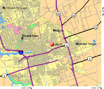 Stockton, CA (95205) map