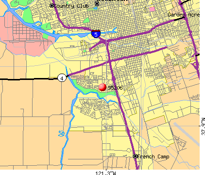 Stockton, CA (95206) map