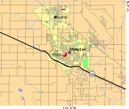 Atwater, CA (95301) map