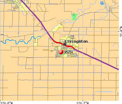 Livingston, CA (95334) map