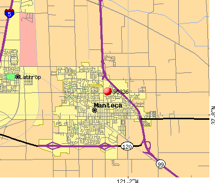 Manteca, CA (95336) map