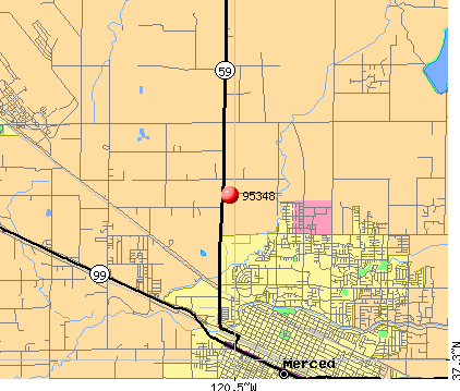 Merced, CA (95348) map