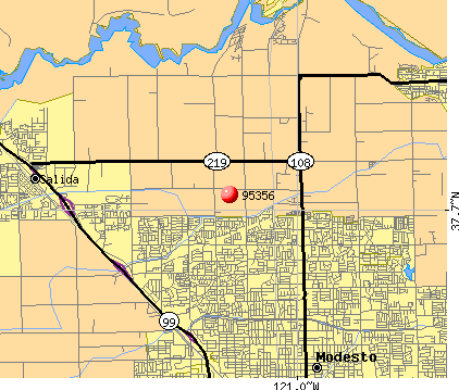 Modesto, CA (95356) map