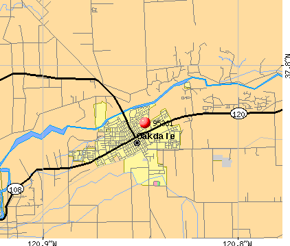 Oakdale, CA (95361) map