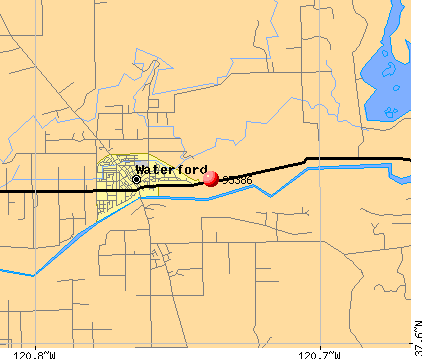 Waterford, CA (95386) map