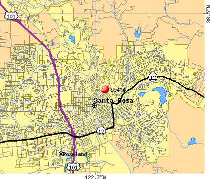Santa Rosa, CA (95404) map