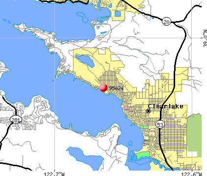 , CA (95424) map