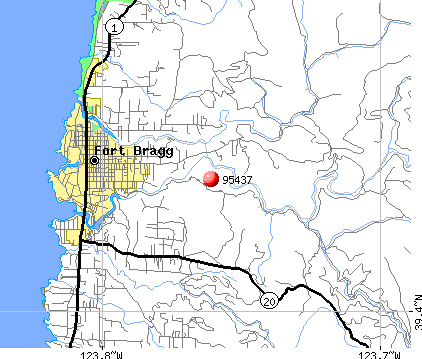 Fort Bragg, CA (95437) map