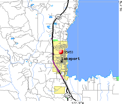 North Lakeport, CA (95453) map