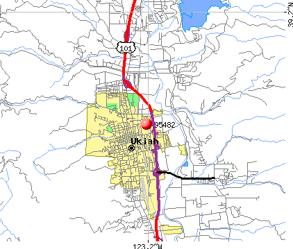 Ukiah, CA (95482) map