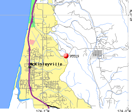 McKinleyville, CA (95519) map