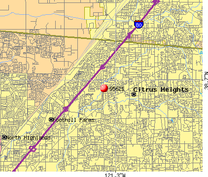 Citrus Heights, CA (95621) map
