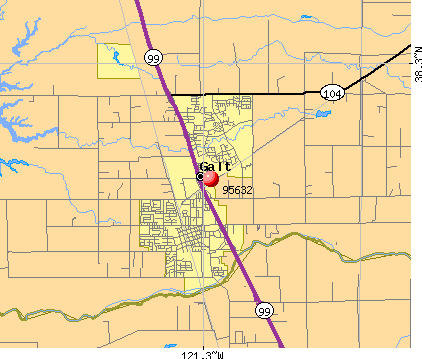 Galt, CA (95632) map