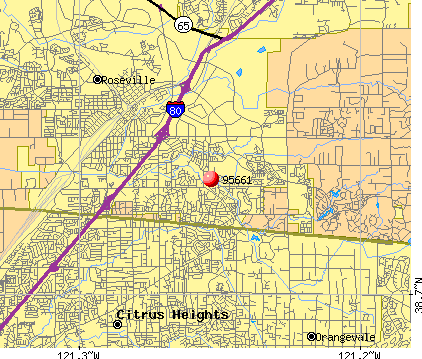 Roseville, CA (95661) map