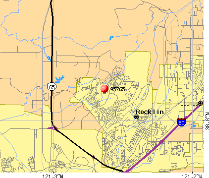 Rocklin, CA (95765) map