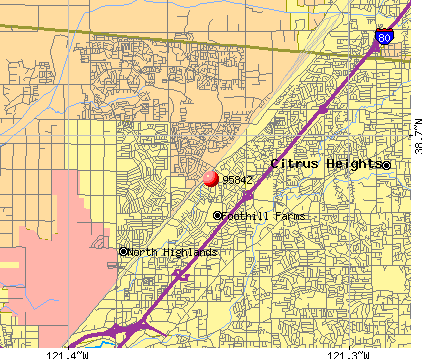 Foothill Farms, CA (95842) map