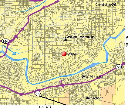 Arden-Arcade, CA (95864) map