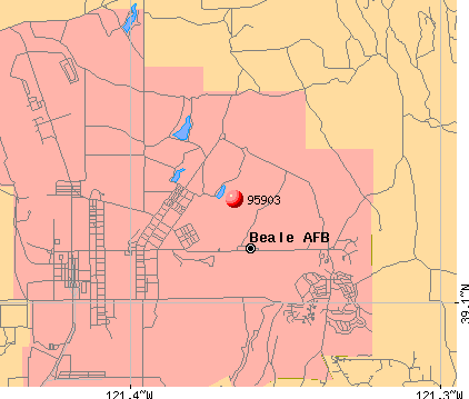 Beale AFB, CA (95903) map