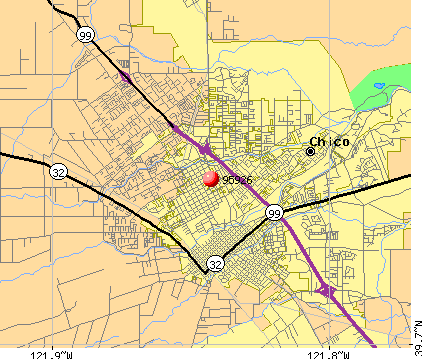 Chico, CA (95926) map