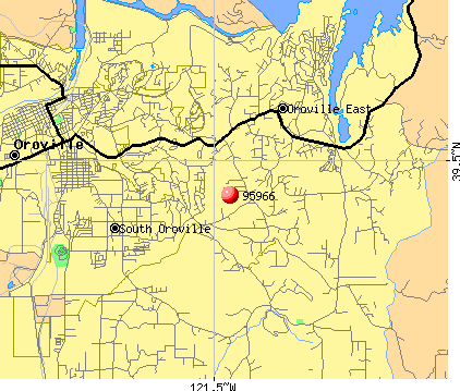 Oroville East, CA (95966) map