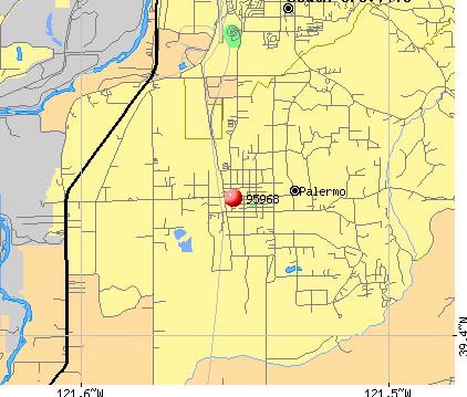 Palermo, CA (95968) map