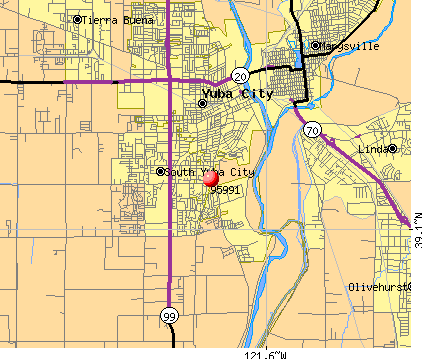 Yuba City, CA (95991) map
