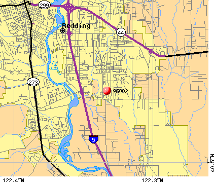 Redding, CA (96002) map