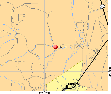 Burney, CA (96013) map
