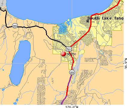 South Lake Tahoe, CA (96150) map