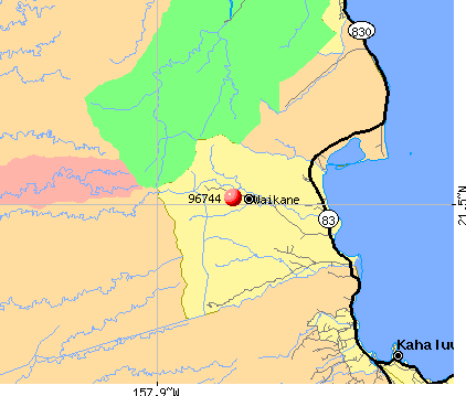 Kaneohe, HI (96744) map
