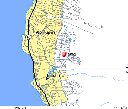 Lahaina, HI (96761) map