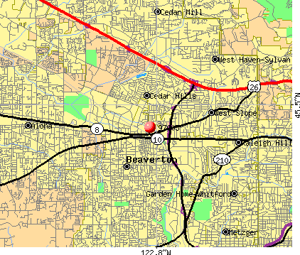 Beaverton, OR (97005) map