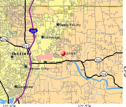 Happy Valley, OR (97015) map