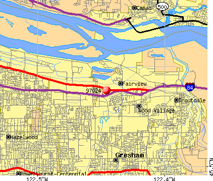 Fairview, OR (97024) map