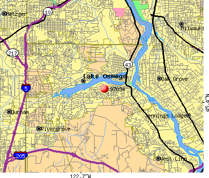Lake Oswego, OR (97034) map