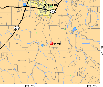 Molalla, OR (97038) map