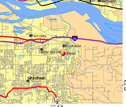 Troutdale, OR (97060) map