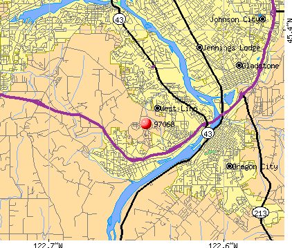West Linn, OR (97068) map