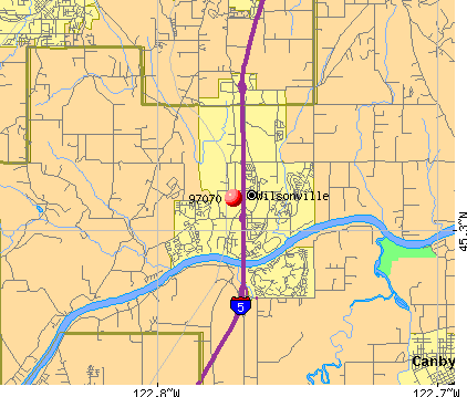 Wilsonville, OR (97070) map