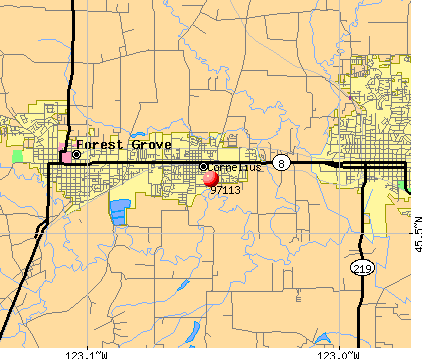 Cornelius, OR (97113) map