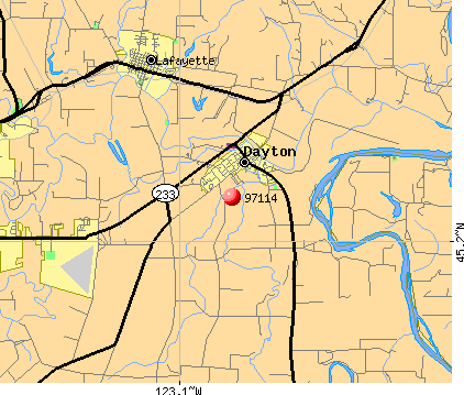 Dayton, OR (97114) map