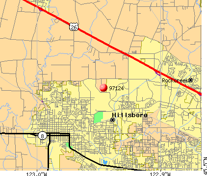 Hillsboro, OR (97124) map
