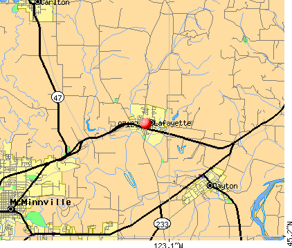 Lafayette, OR (97127) map