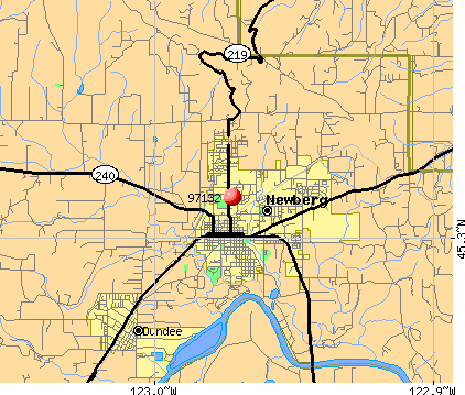 Newberg, OR (97132) map