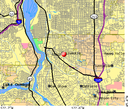 Milwaukie, OR (97222) map