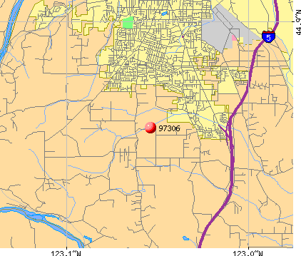 Salem, OR (97306) map