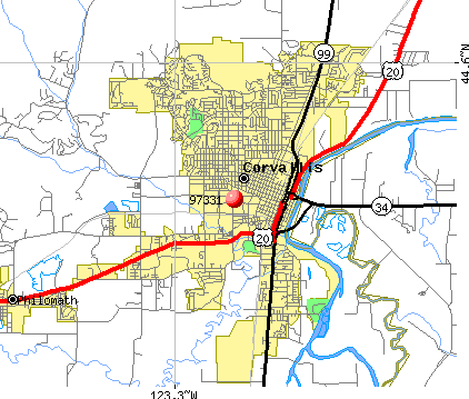 Corvallis, OR (97331) map