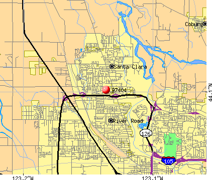 Eugene, OR (97404) map