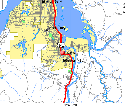 Coos Bay, OR (97420) map