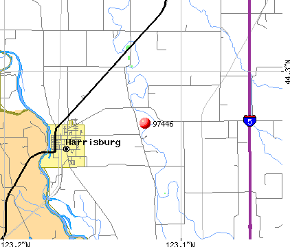 Harrisburg, OR (97446) map